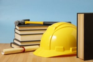 Training - books and hardhat - licensed